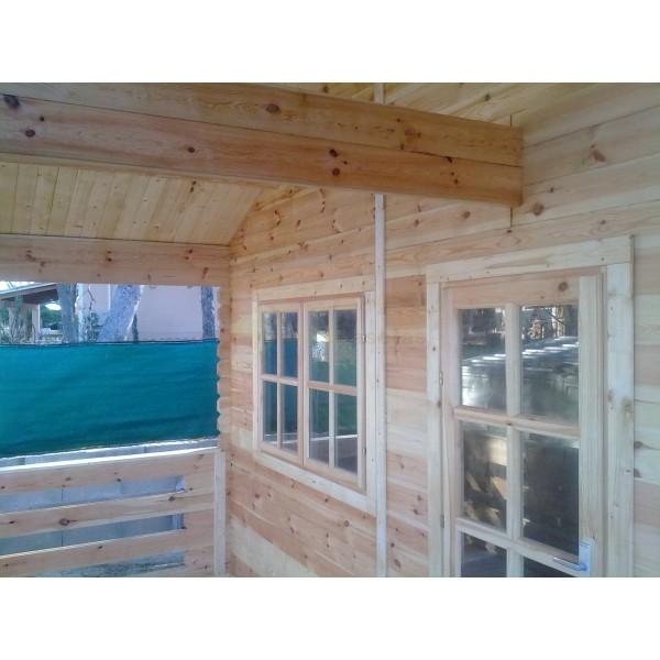 Montaje casa de madera asti en palma de mallorca for Montaje tejados de madera