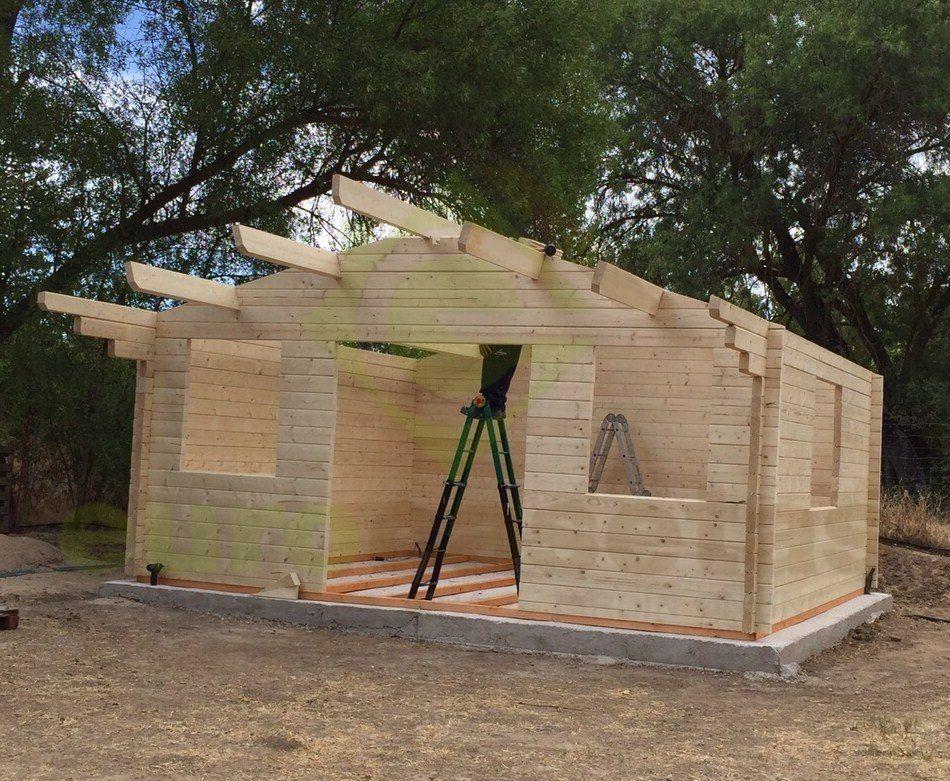 Montaje caseta de madera caroline 2 70 mm for Casetas de jardin segunda mano madrid