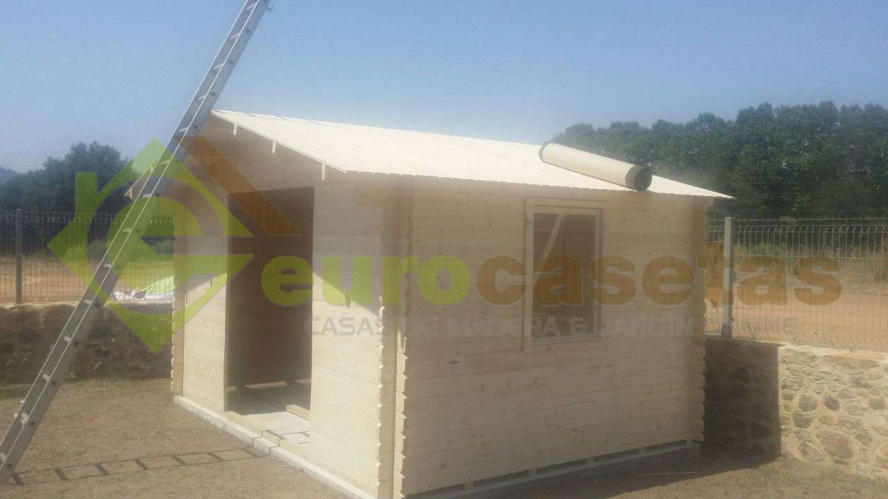 Caseta de jardín ELBE 4x4 , de 34 mm de grosor .