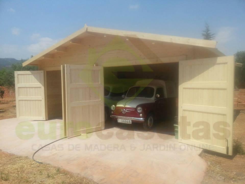 Montaje garaje doble 6x6 eurocasetas casas de madera - Garajes prefabricados de madera ...