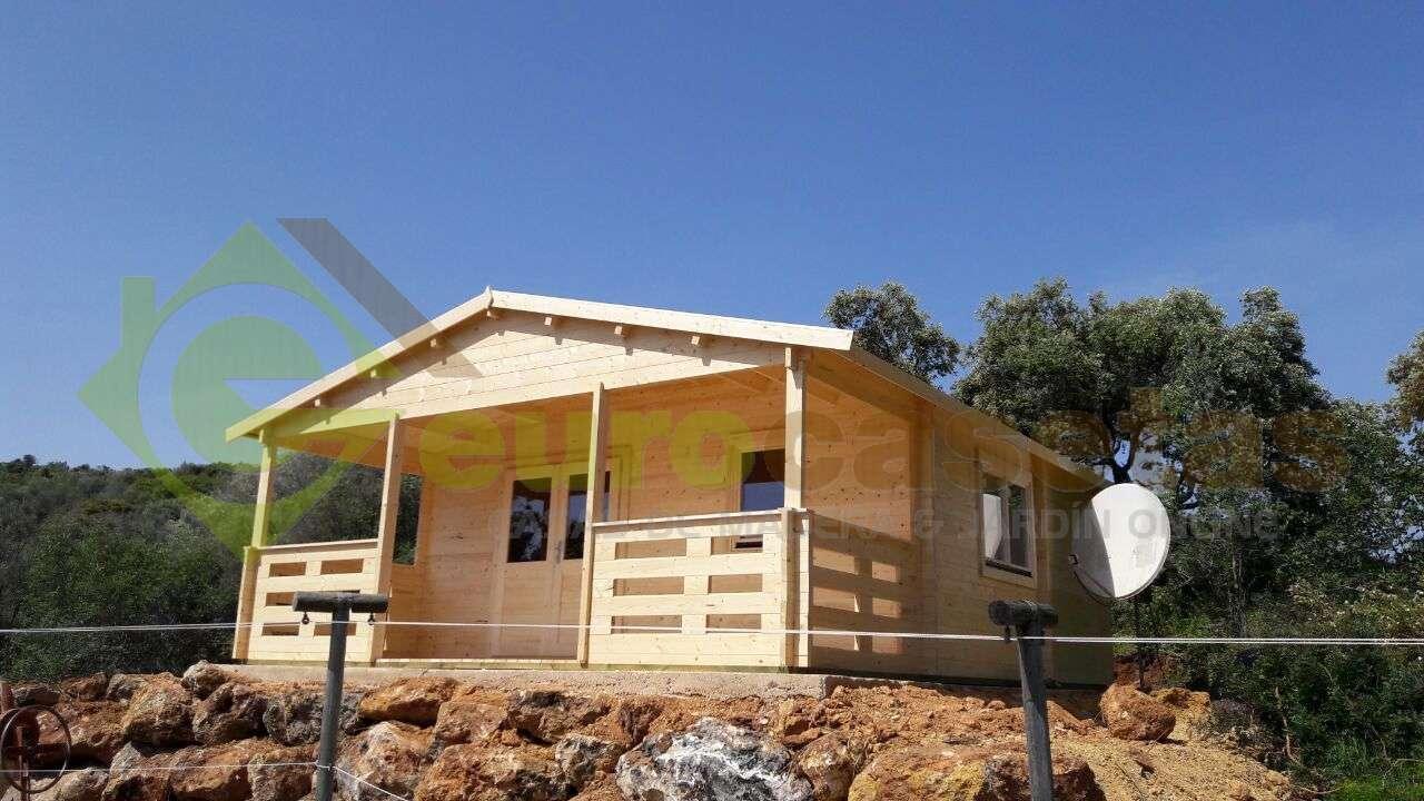 Montaje casa de madera roy con ba o en portugal - Casas madera portugal ...