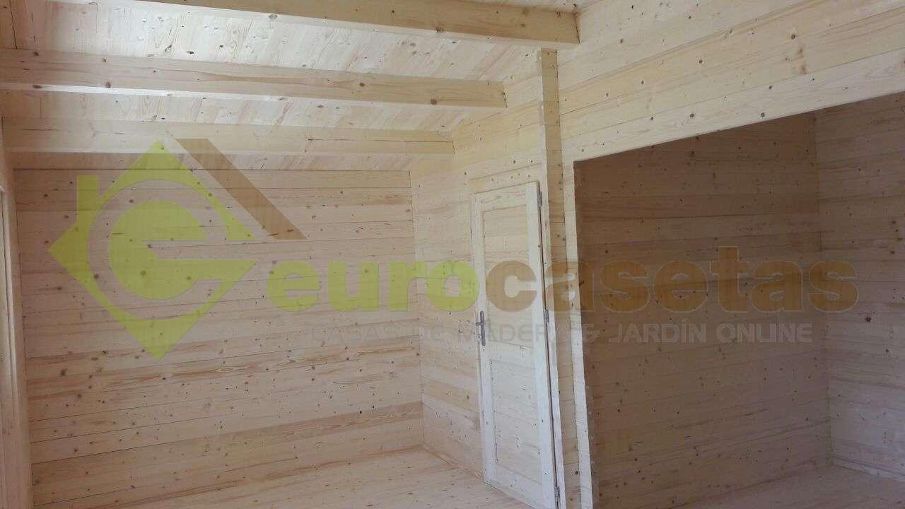 montaje casa de madera roy con bao en portugal