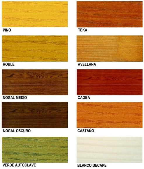 Carta de colores para madera imagui - Pintura para madera colores ...